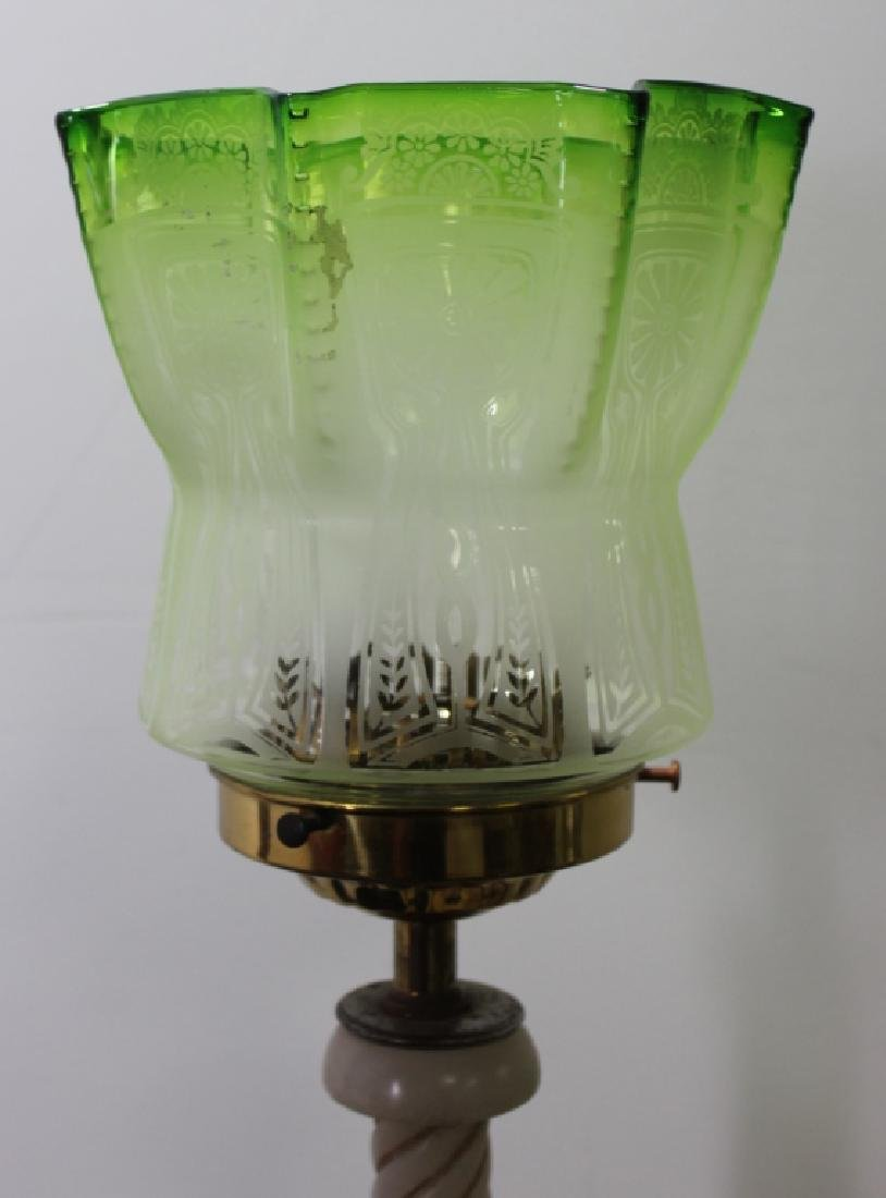Marble Figural Lamp, C.1940's - 3