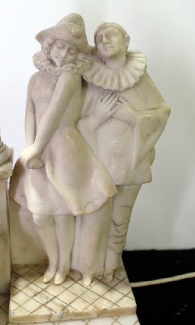 Marble Figural Lamp, C.1940's - 4
