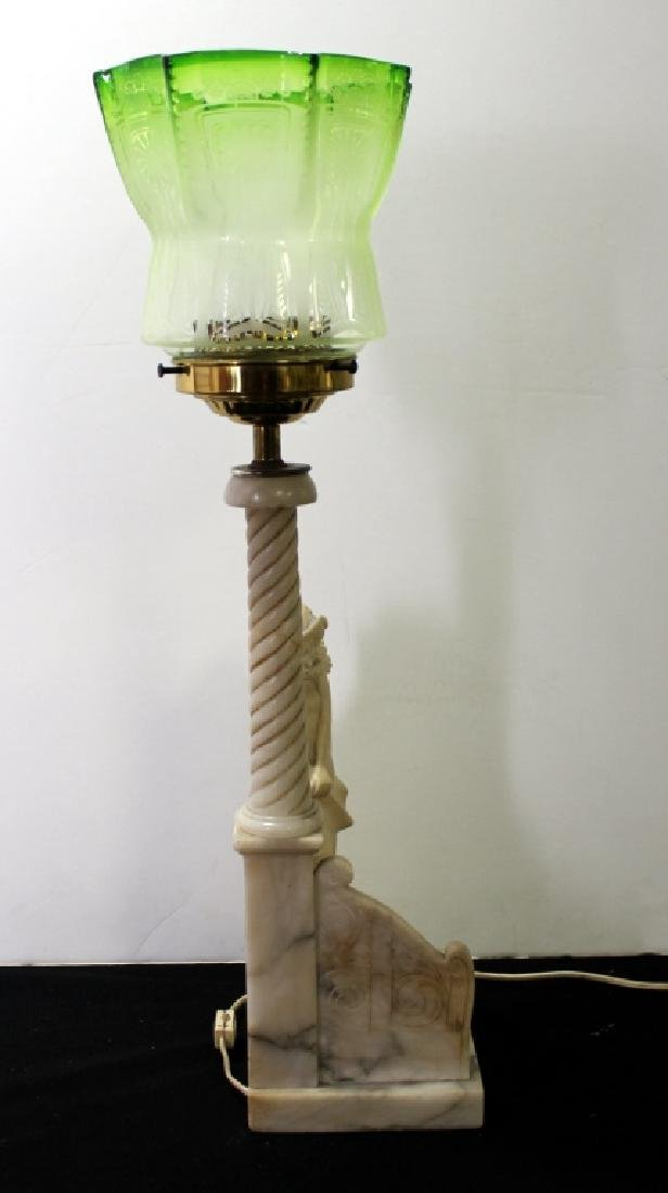 Marble Figural Lamp, C.1940's - 5