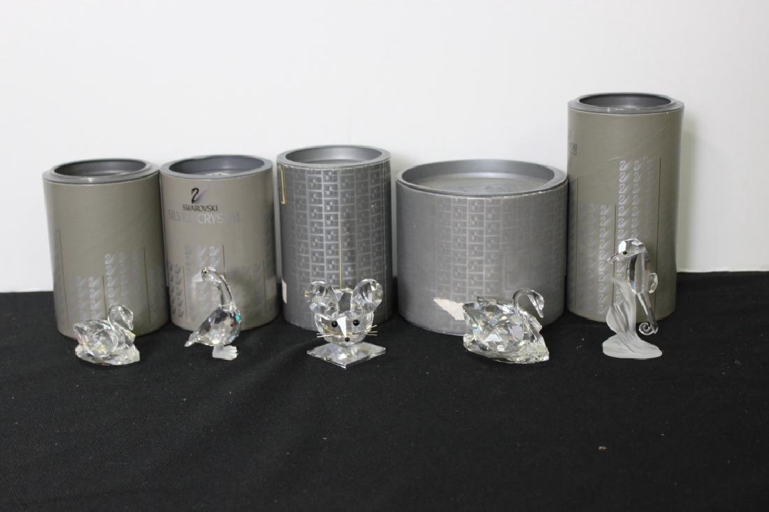 Five  Swarovski Figurines