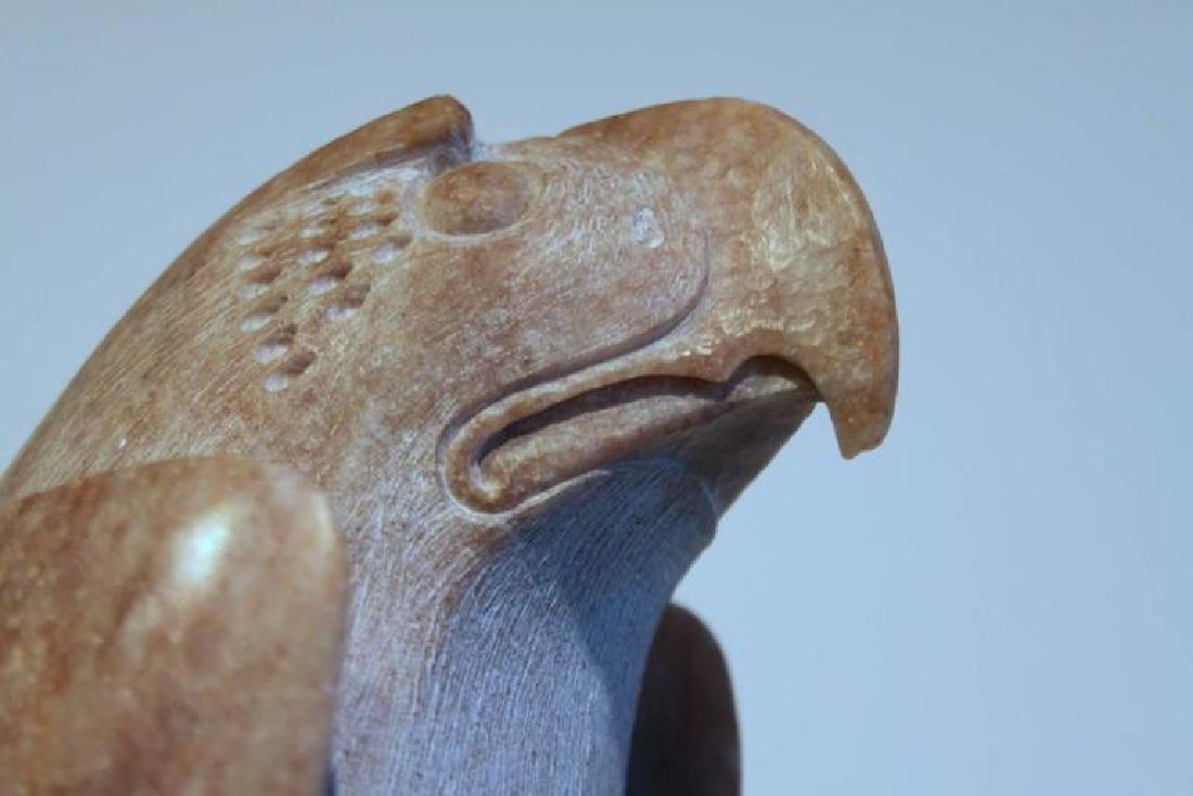 Tall Bald Eagle Soapstone Sculpture - 5