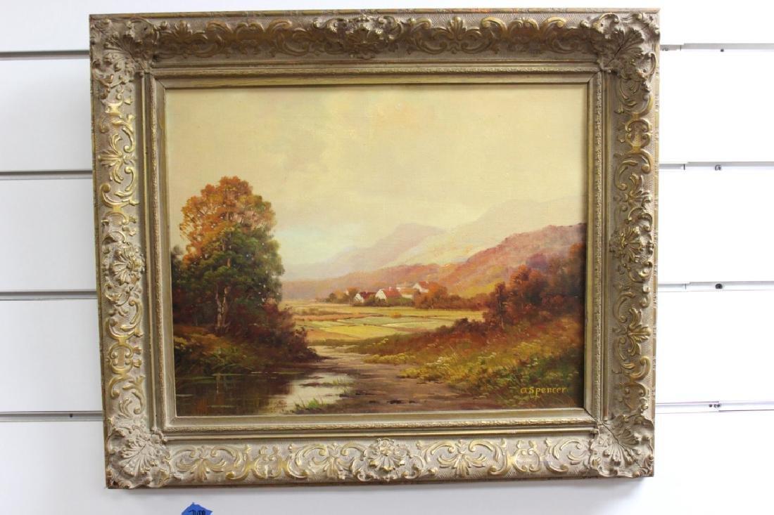 Landscape, Oil on canvas - A. Spencer