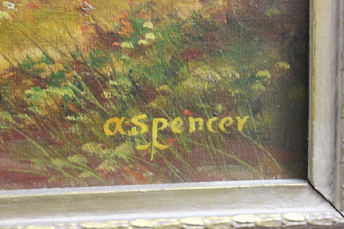 Landscape, Oil on canvas - A. Spencer - 2