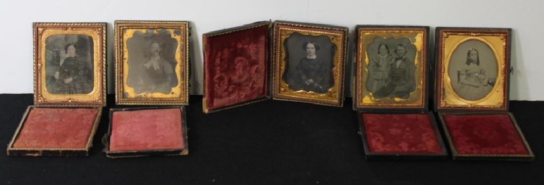 5 Daguerreotype With Cases