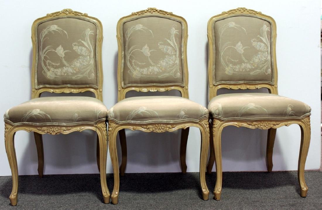 8 French Upholstered DR Chairs - Cream
