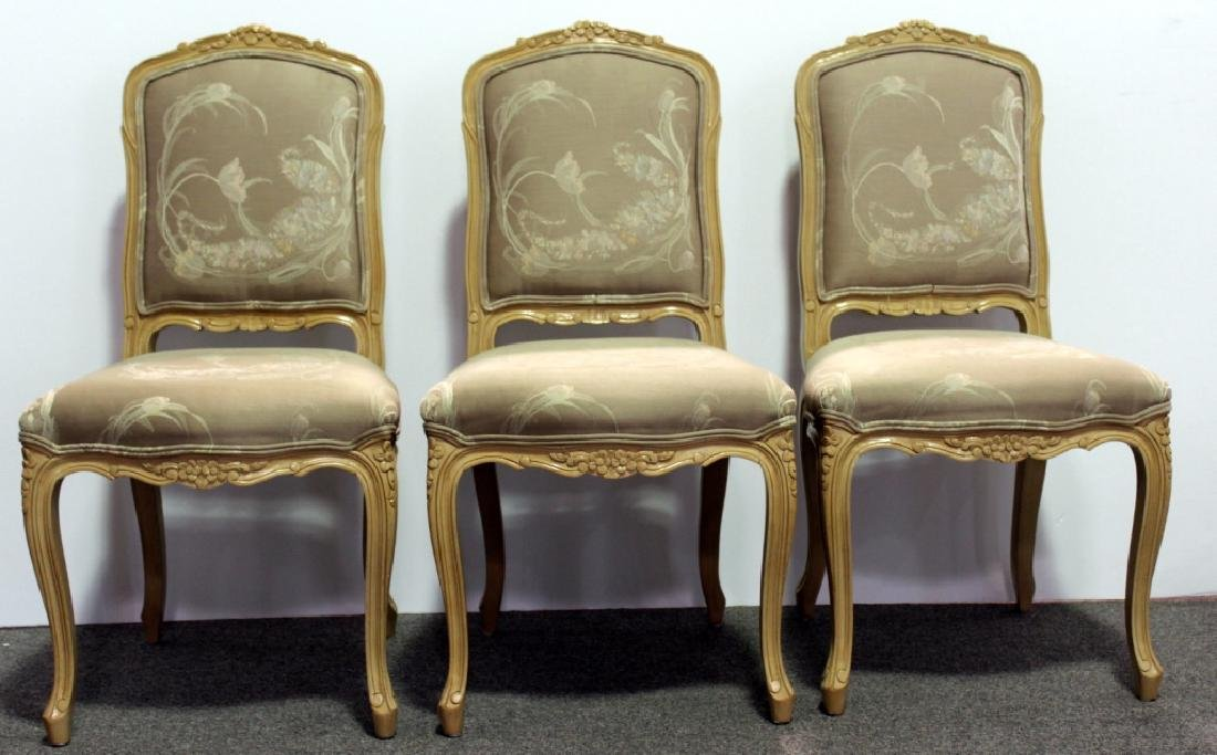 8 French Upholstered DR Chairs - Cream - 2