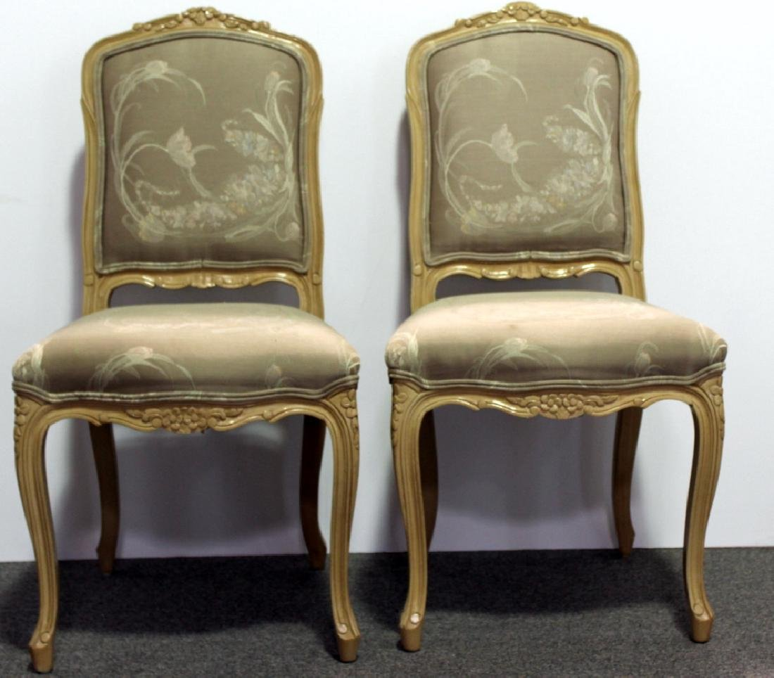 8 French Upholstered DR Chairs - Cream - 3