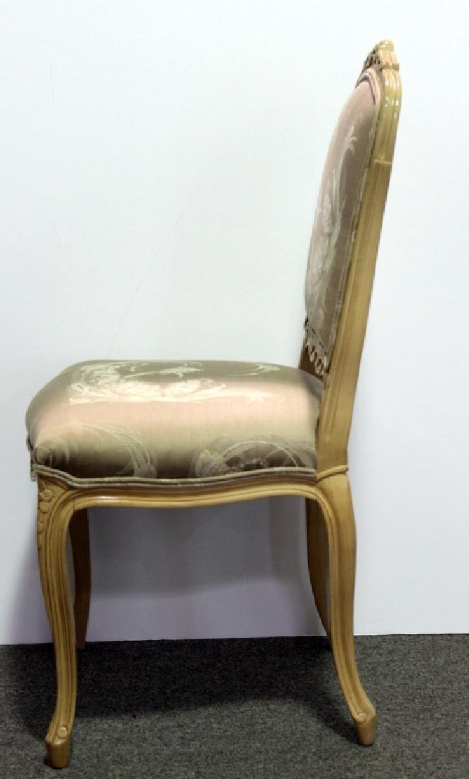 8 French Upholstered DR Chairs - Cream - 4