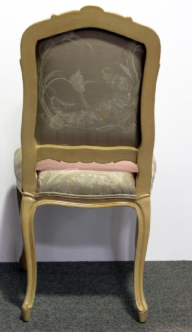 8 French Upholstered DR Chairs - Cream - 5