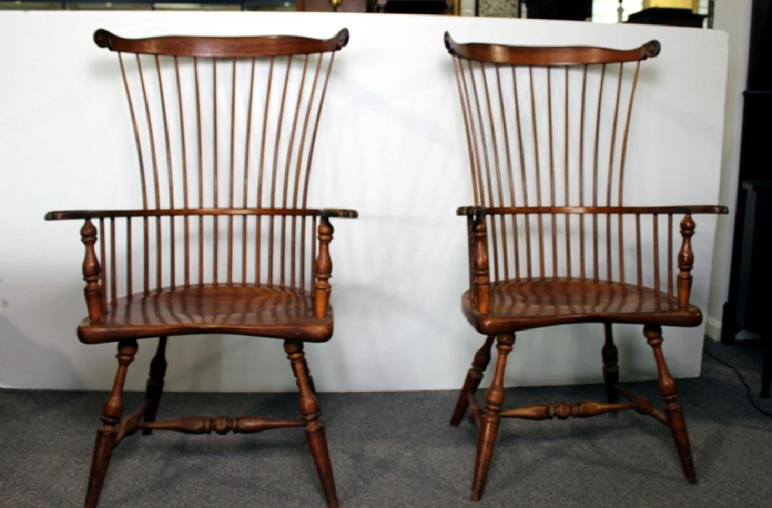 Pair of Duckloe Windsor Chairs