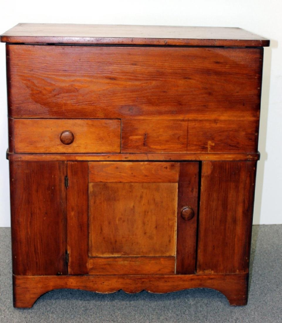 Late 19th C. Pine Dry Sink