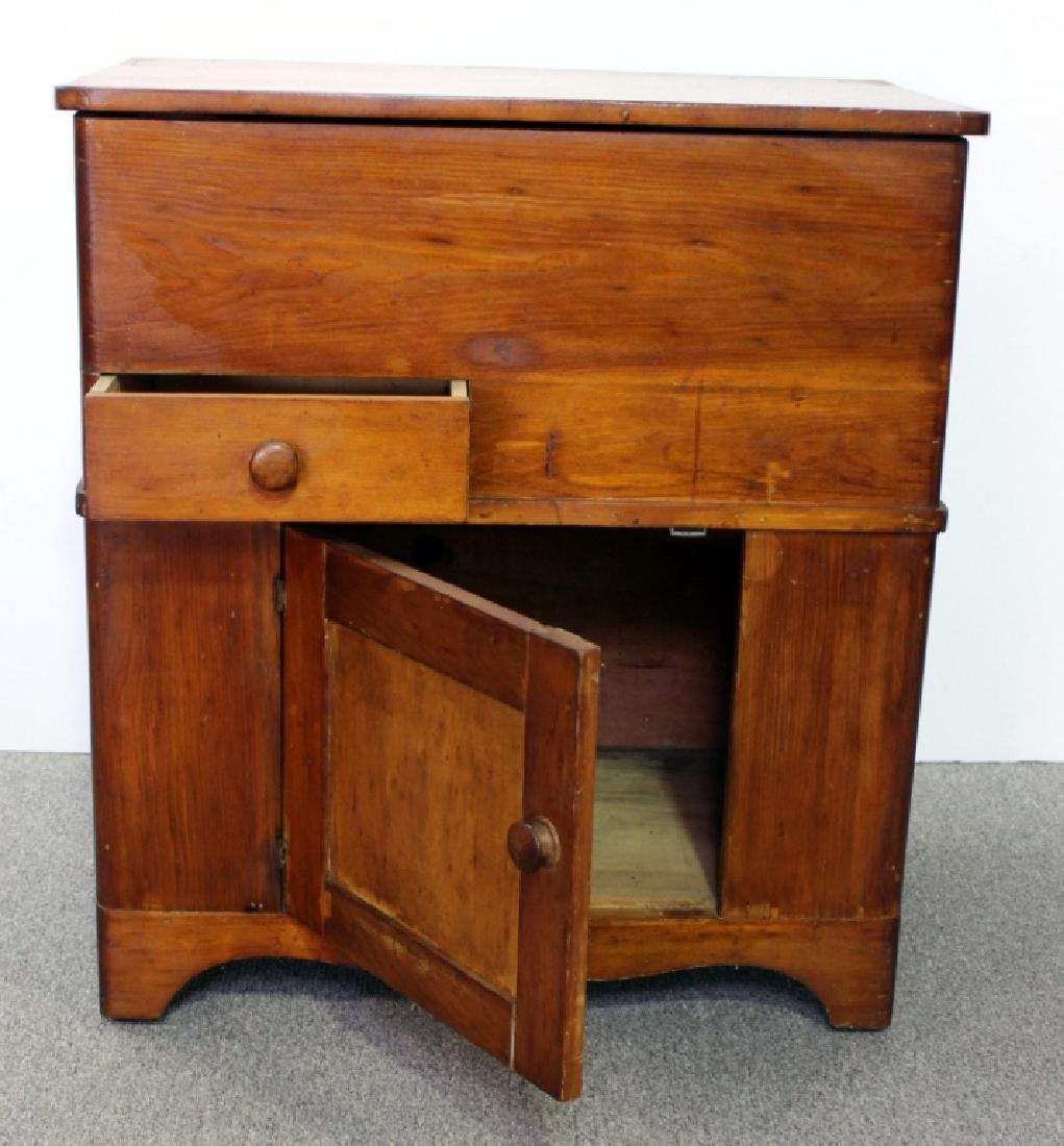 Late 19th C. Pine Dry Sink - 2