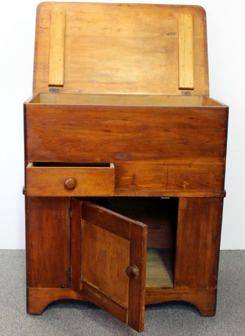 Late 19th C. Pine Dry Sink - 3