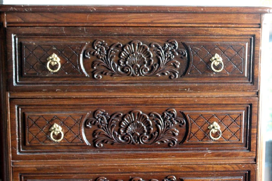 French Style Tall Chest of  5 Drawers - 2