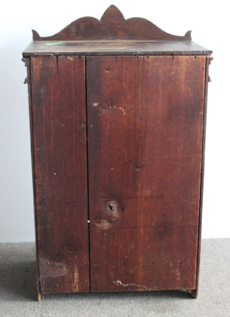 Victorian Wood Two Door Cabinet / Salesman Sample - 5
