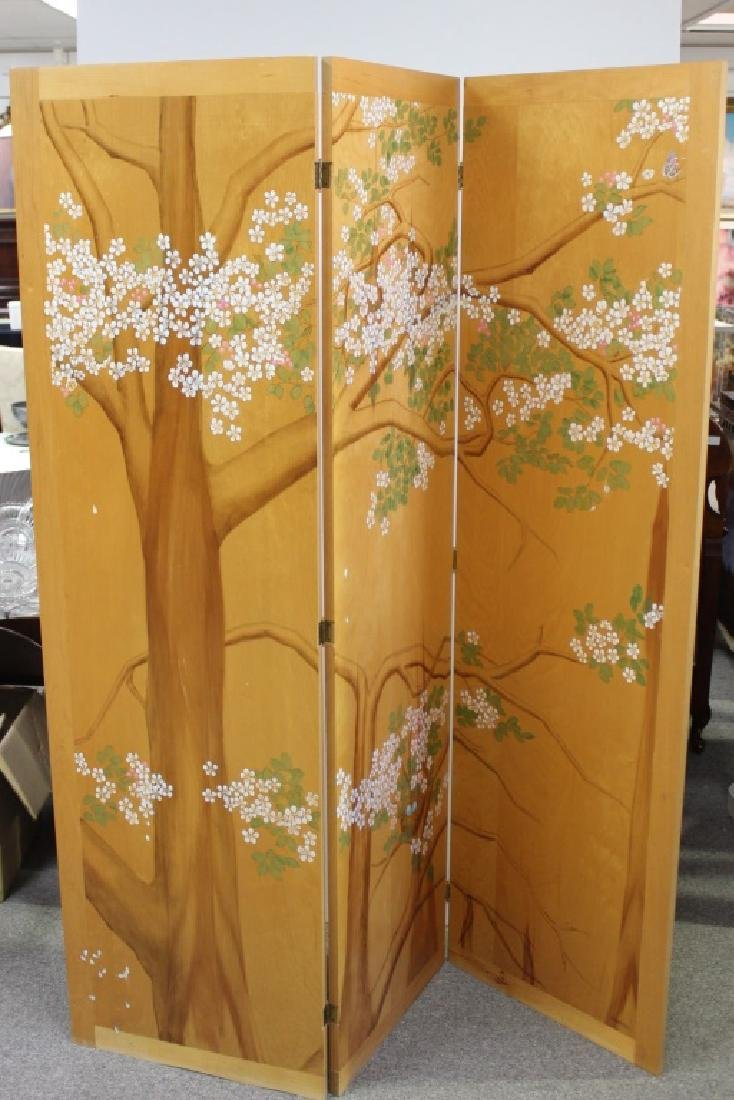 1970's Hand Painted Wood Screen Panels (2)