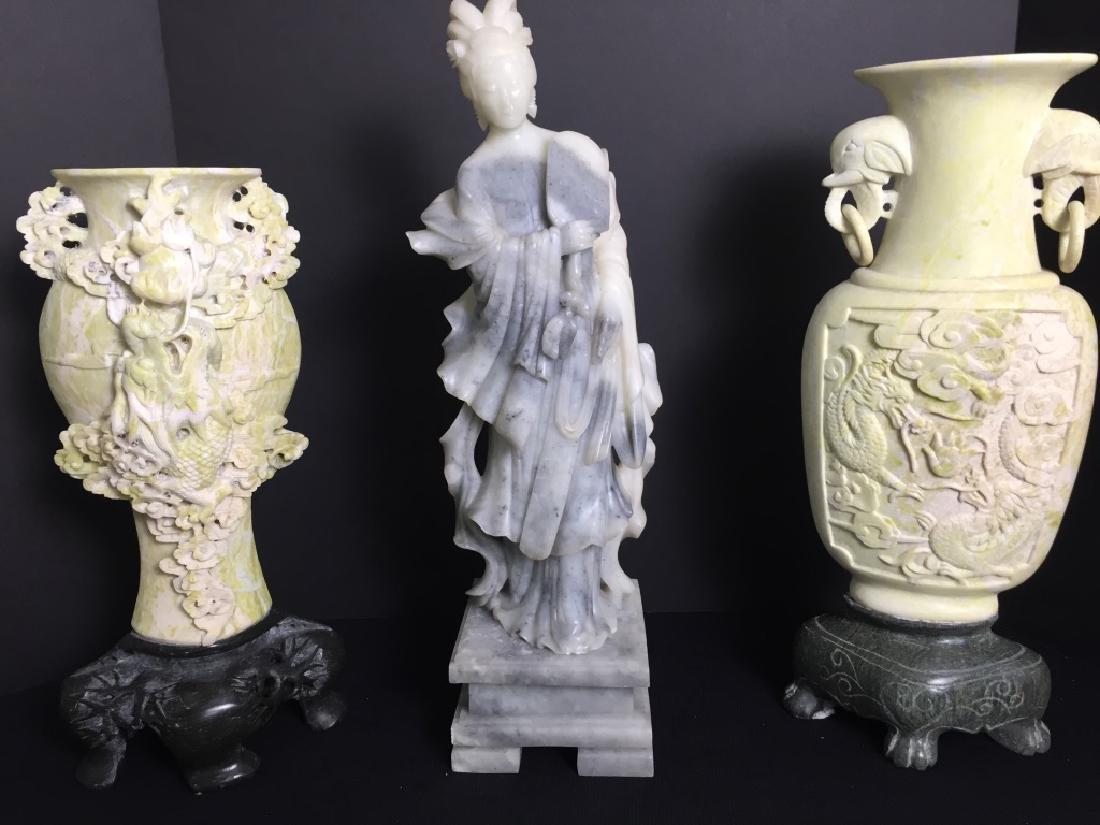 Soapstone, Asian Urns & Figurine