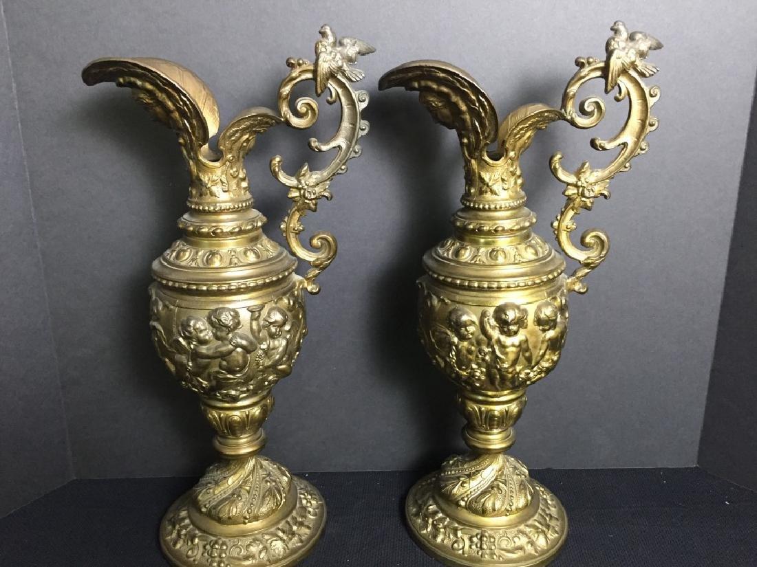 Brass Pitchers (Pair)