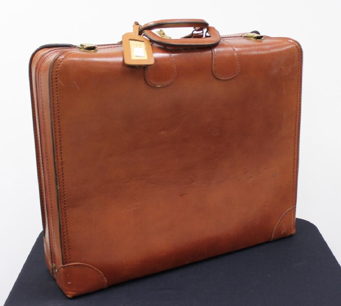 Crouch & Fitzgerald NY Vintage Leather Suitcase