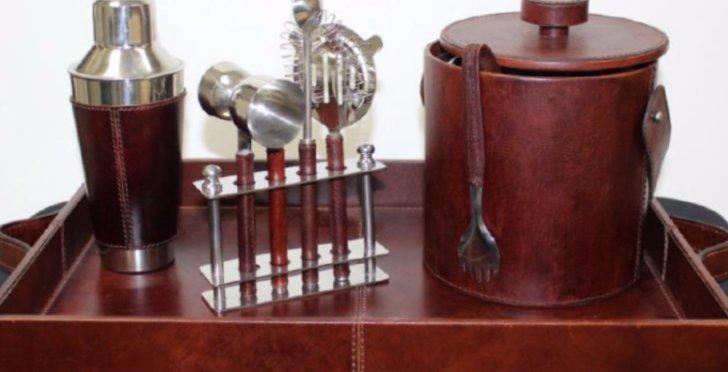 Leather Bar Set