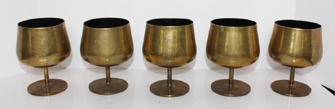 (5) Knoll Brass Goblets, c. 1965 - 2