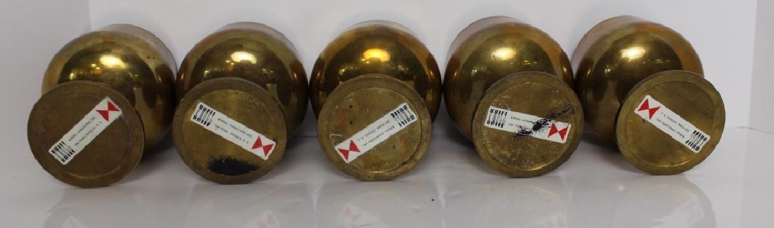 (5) Knoll Brass Goblets, c. 1965 - 3