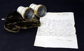 Fords Theater Provenance,Abraham Lincoln, Opera Glasses