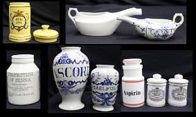 Grouping of Porcelain Medical Jars