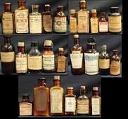 Lot of 25 Amber Medicine Bottles Morphine