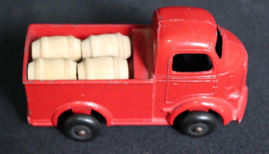 Vintage Red Metal Barclay Truck w/ Barrels