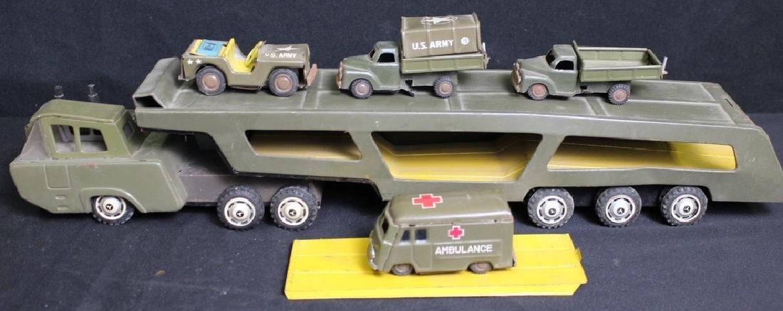 6 Metal Vintage Military Vehicles