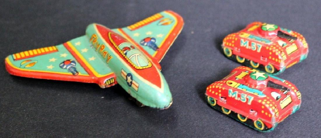 3 Vintage Tin Litho Toys