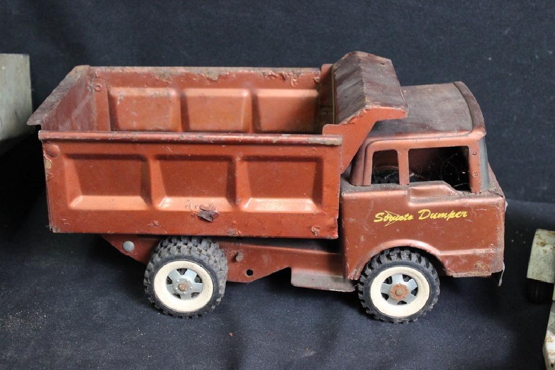 7 Vintage Metal Trucks - 3