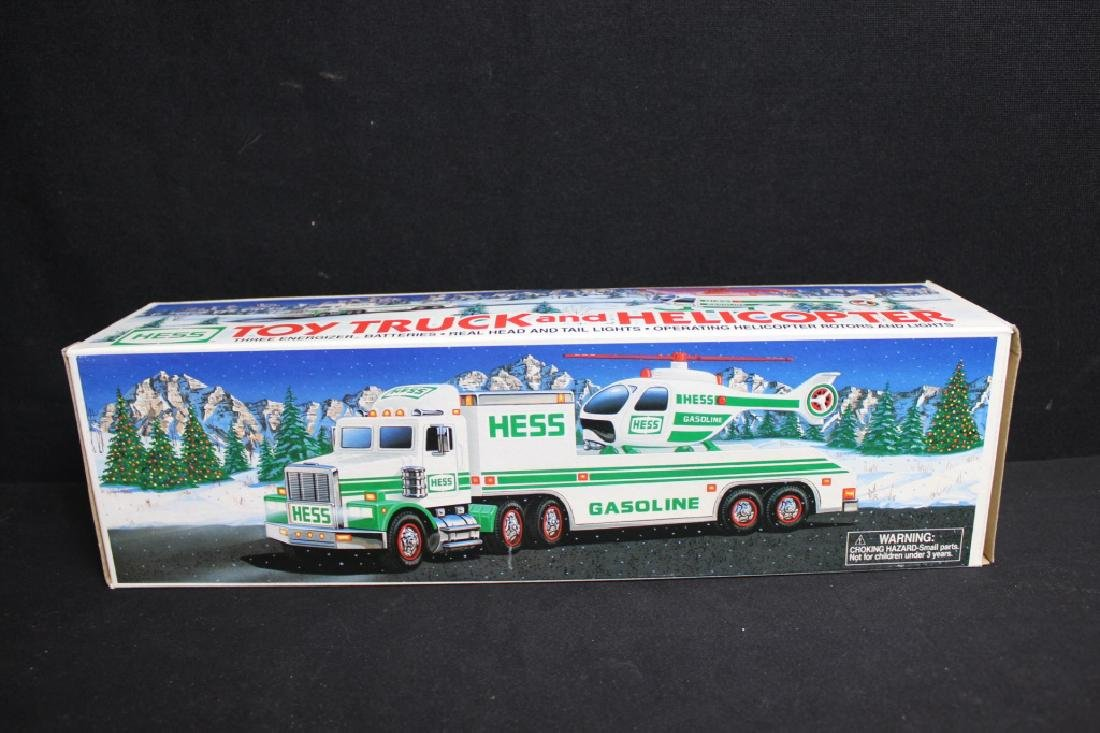 1995 Hess Toy Truck & Helicopter