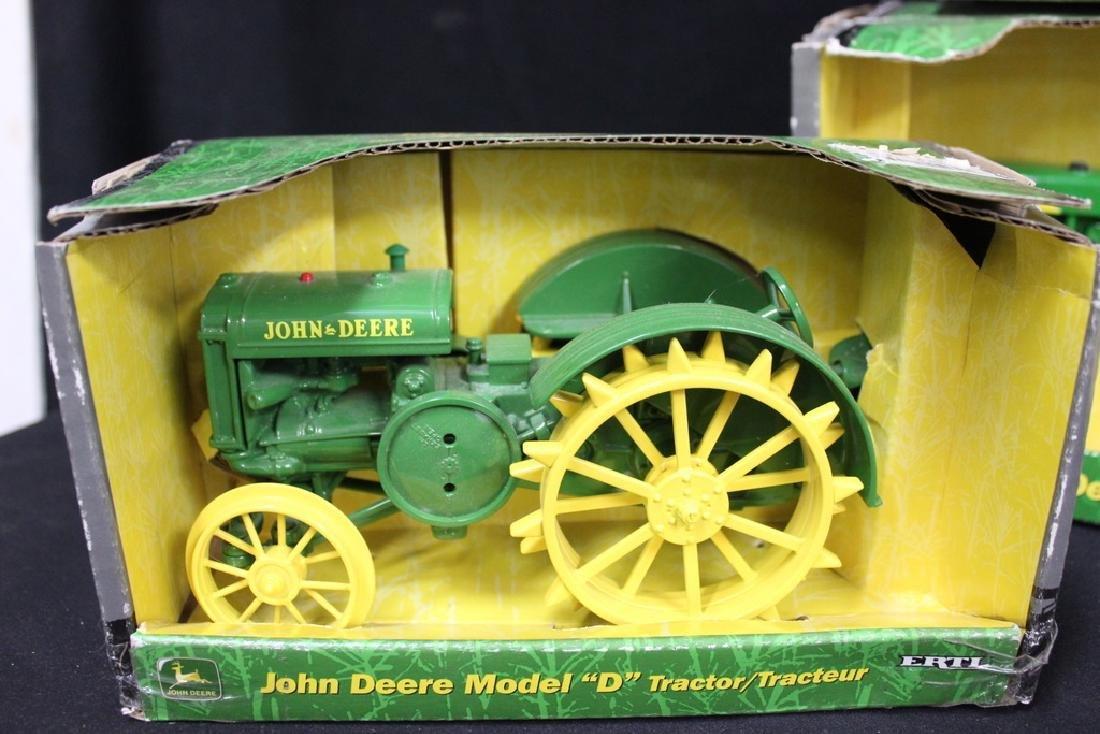 5 John Deere Die Cast Metal Farm Tractors - 3