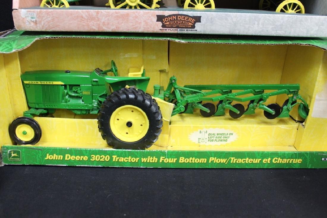 5 John Deere Die Cast Metal Farm Tractors - 5