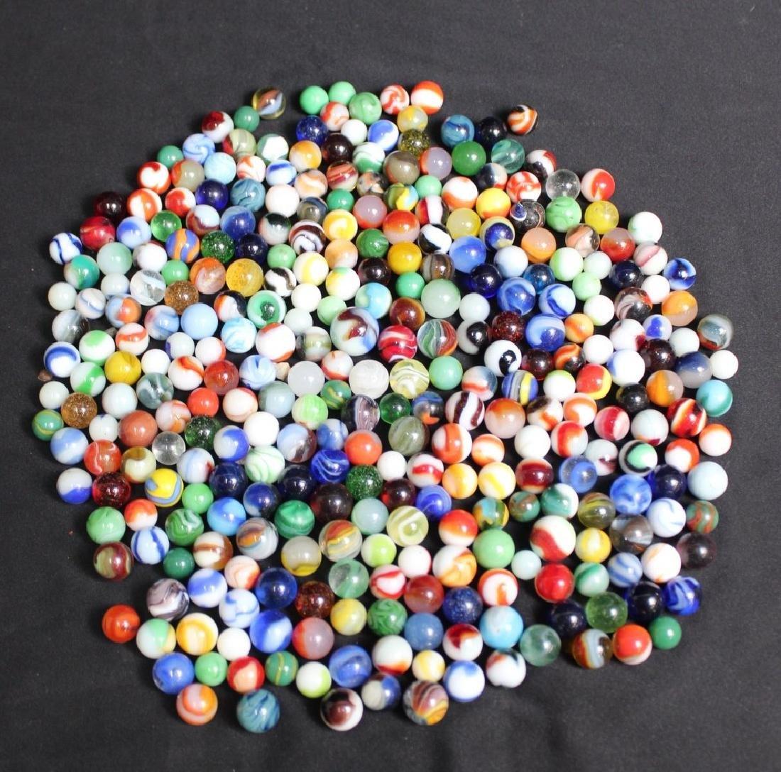 300 Vintage Glass Marbles