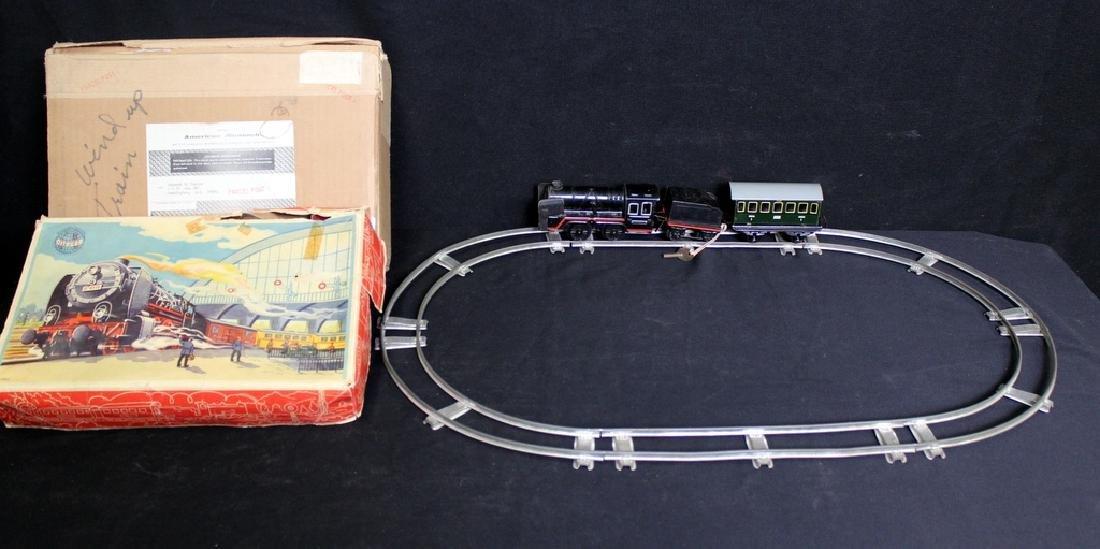 Vintage Tin Litho Wind Up Mechanical Train Set