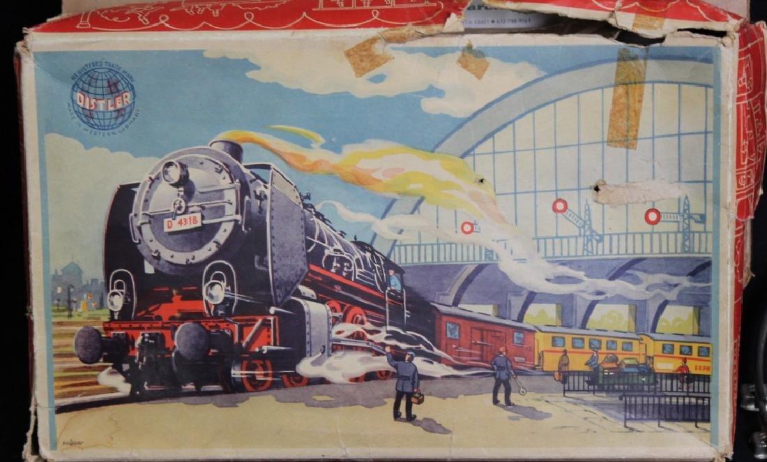 Vintage Tin Litho Wind Up Mechanical Train Set - 3