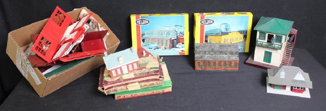 2 Boxes of Vintage Train Buildings and more!