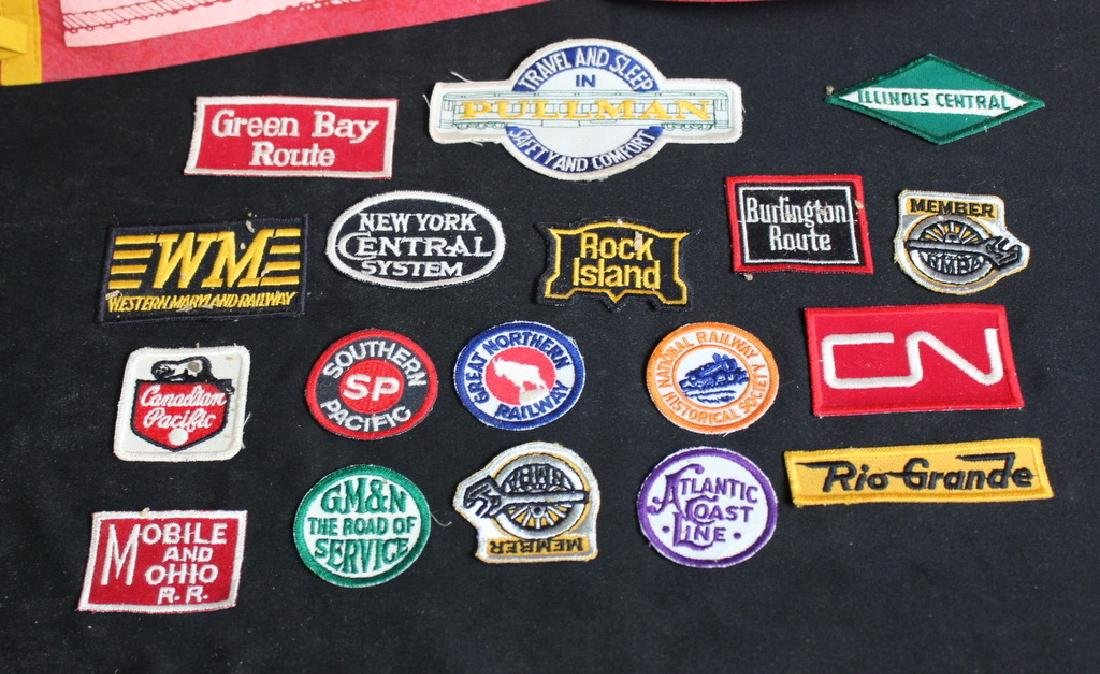 18 Vintage Railroad Patches & Pennant - 2