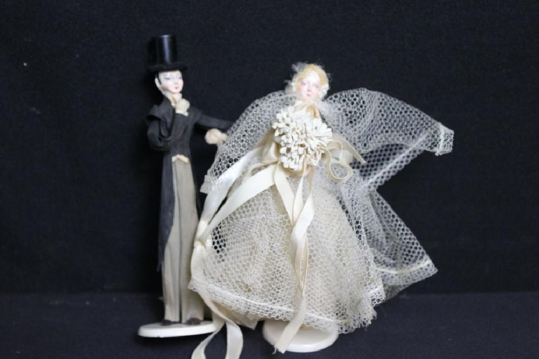 Pair 1920's French Bride & Groom