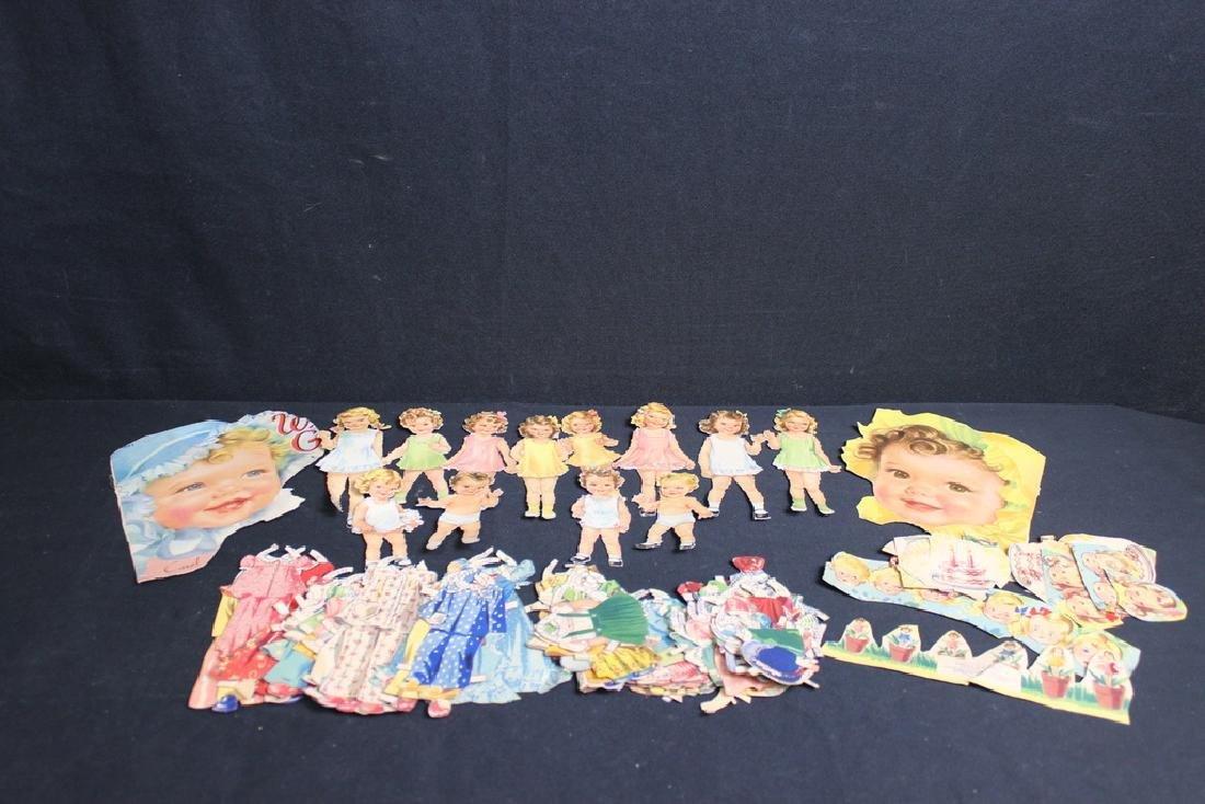 12 Paper Dolls & Paper Clothes 1950's