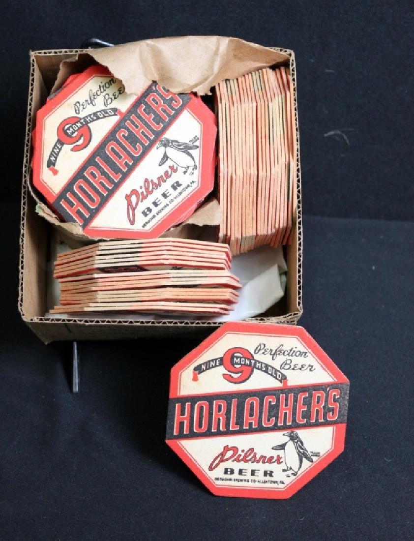 81 Horlacher's Pilsner Beer Coasters