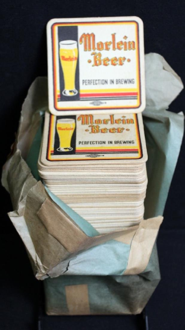 90 Vintage Morlein Beer Coasters in Org. Sleeve