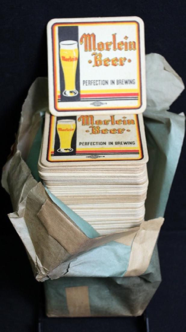 90 Vintage Morlein Beer Coasters in Org. Sleeve