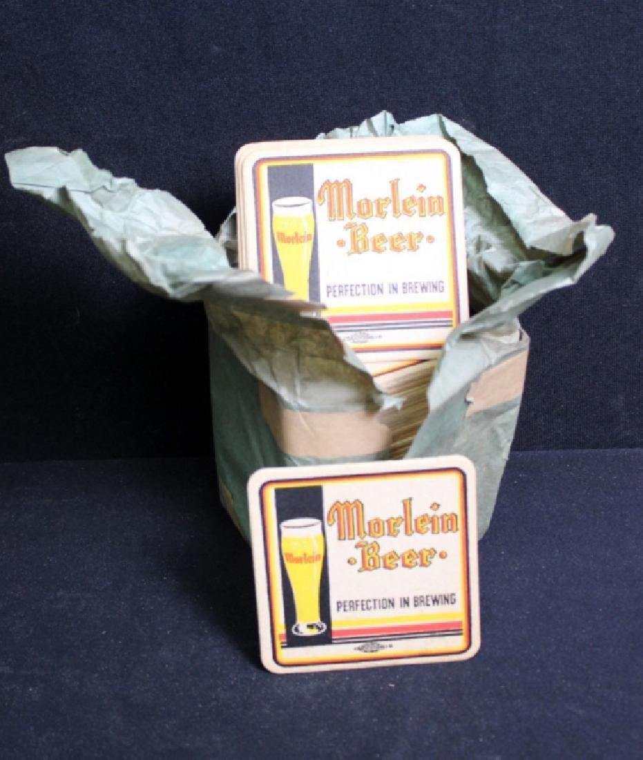 56 Vintage Morlein Beer Coasters in Org. Sleeve