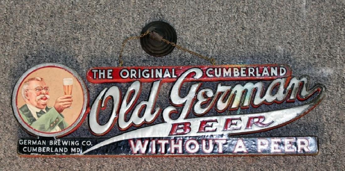 Old German Beer Sign