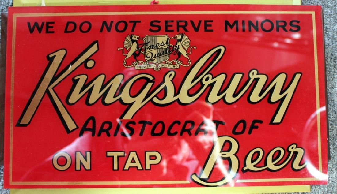 Kingsbury Beer Sign