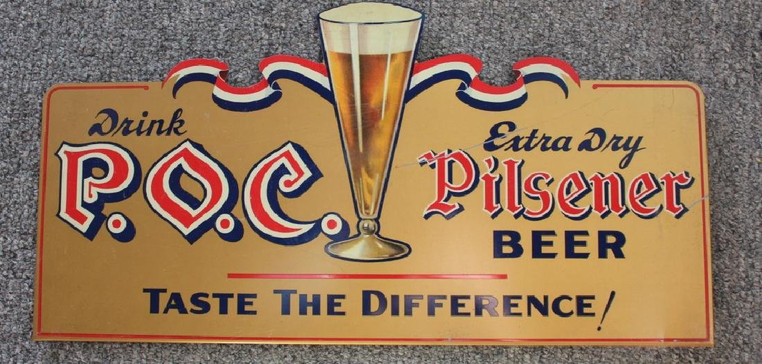 P.O.C. Beer Sign